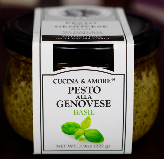jar of Cucina & Amore Pesto Alla Genovese Basil Pesto