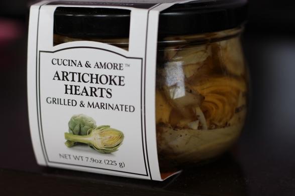 jar of Cucina & Amore Artichoke Hearts Grilled & Marinated