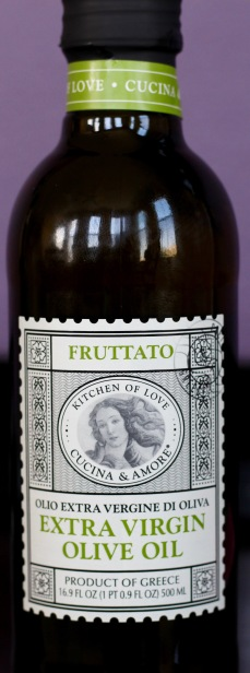 bottle of Cucina & Amore fruttato extra virgin olive oil