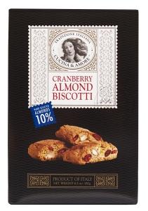 box of Cucina & Amore Cranberry Almond Biscotti