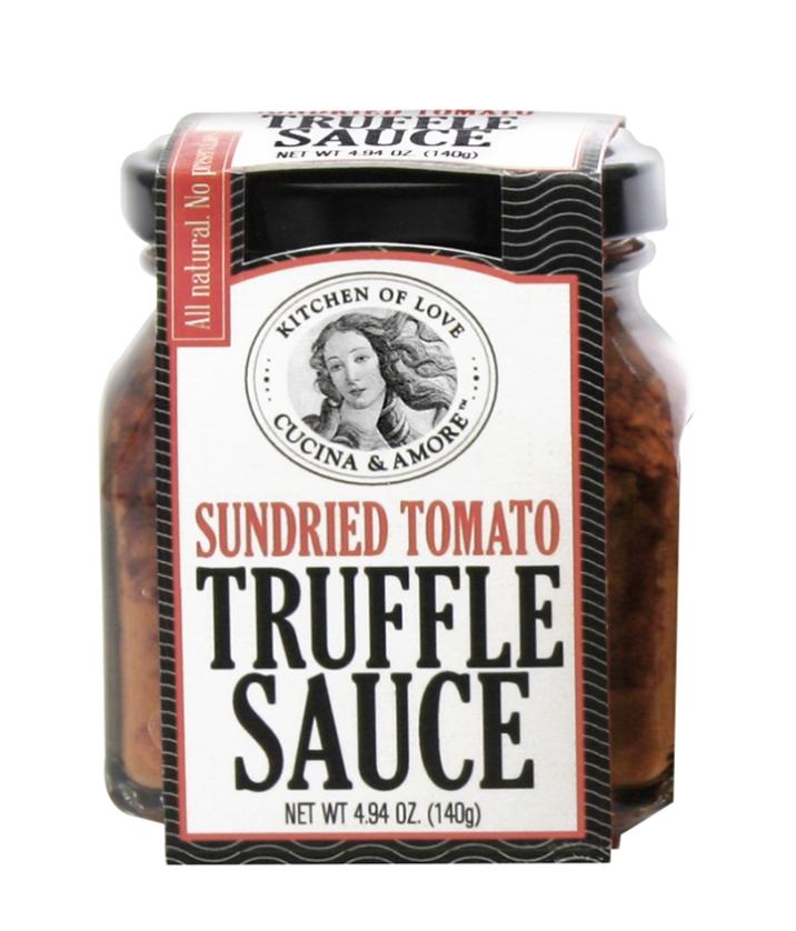 jar of Cucina & Amore SunDried Tomato Truffle Sauce