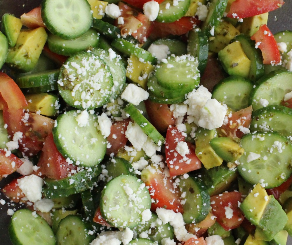 Cucumber, Avocado, Tomato Salad