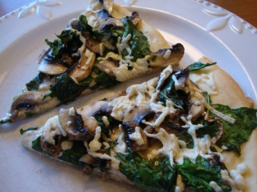 Mushroom and Spinach Pizza by EpicureanVegan.com