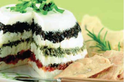 Pesto & Bruschetta cheese torta