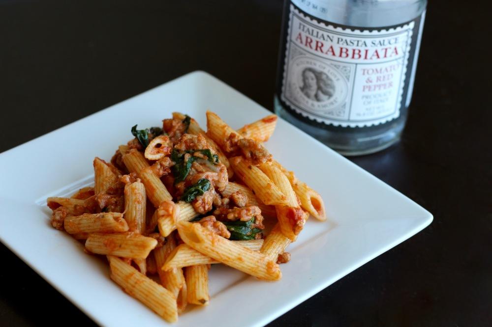 Cucina & Amore Arrabbiata Pasta with Italian Turkey & Spinach
